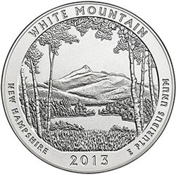 US Mint Sales Report: White Mountain Five Ounce Silver Coins Debut
