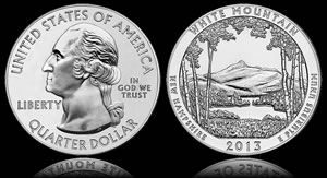 Gold Falls, White Mountain 5 Oz Silver Bullion Coin Sales Start