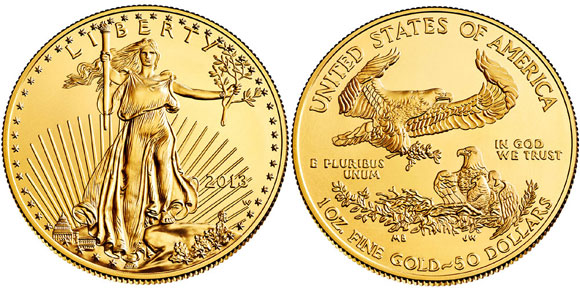 2013-W American Gold Eagle One Ounce Uncirculated Coin