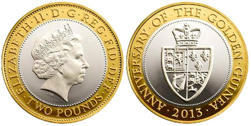 Historic Guinea Featured on New £2 Gold & Silver Coins