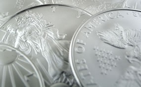 Gold Gains on China Inflation, US Mint Silver Bullion Coins Jump
