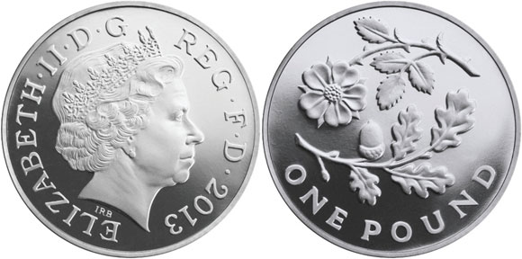 """New Pound Coin """"Flora"""" Series Offered in Gold and Silver"""