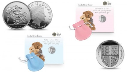 Royal Birth 2013 US Silver Coins and Lucky Silver Penny