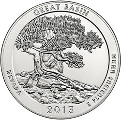 US Mint Sales Report: Great Basin Five Ounce Silver Coins Debut