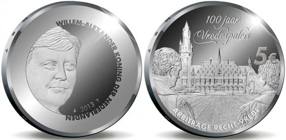 Netherlands: Gold and Silver Coins Mark the 100th Anniversary of Peace Palace