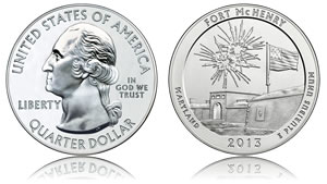 Silver Hits 4-Month High, Fort McHenry 5 Oz Bullion Coins Debut