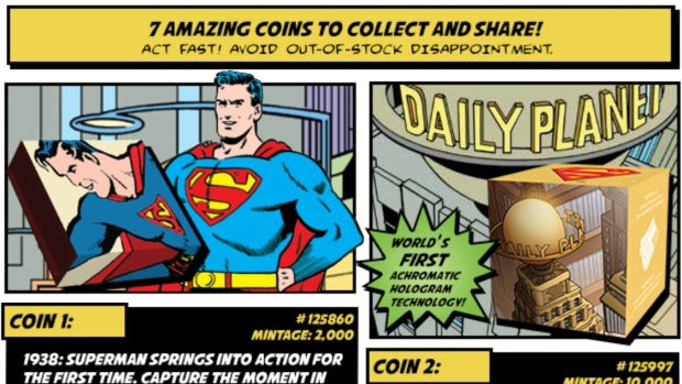 Royal Canadian Mint to release 7 Superman collector coins