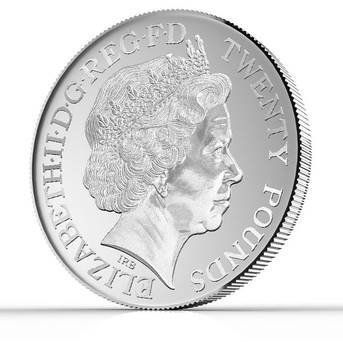 The first ever £20 denomination coin has been announced by the Royal Mint …