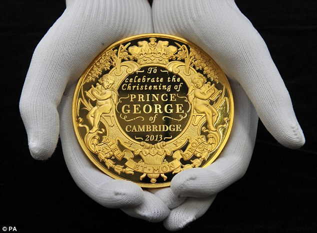 Prince George's £50000 coin: Piece containing 1kg of gold among first set …
