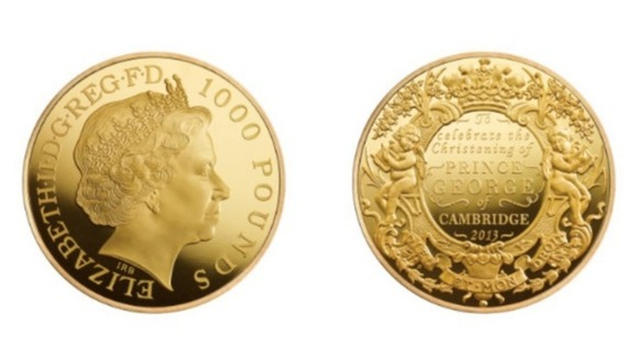Christening coins made by Royal Mint in Llantrisant