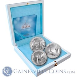 """Gainesville Coins Distributor for PAMP """"Gloria"""" Silver Nativity Coin Set"""
