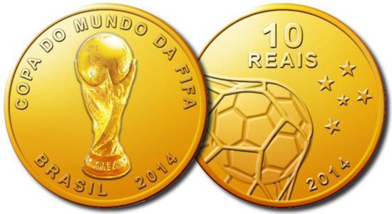 Brazil 2014 World Cup Collector Coin Series To Be Issued