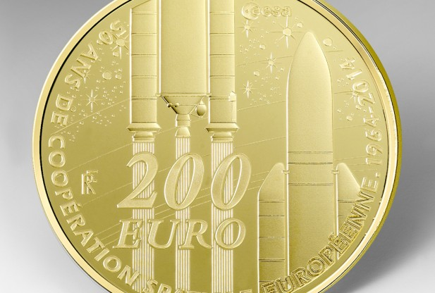 Commemorative Coins Issued To Mark 50 Years Of European Space Cooperation