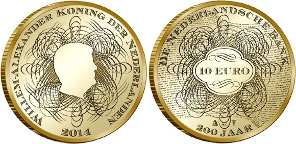 Gold and Silver Coins Celebrate 200 Years of the Dutch Central Bank