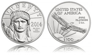 2014 American Platinum Eagle Sales Solid in Start, Gold Rises