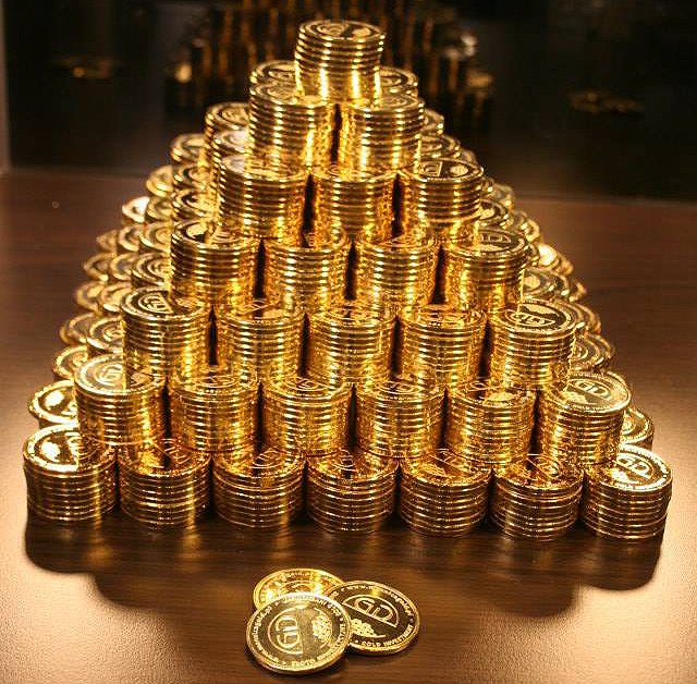 Gold Type Coins Ride Up on Increasing Action