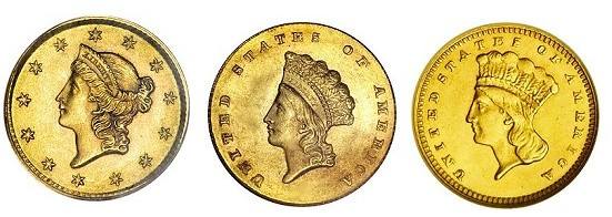 Rare Gold Coins for less than $5000 each, Part 3: 19th Century One Dollar Gold …