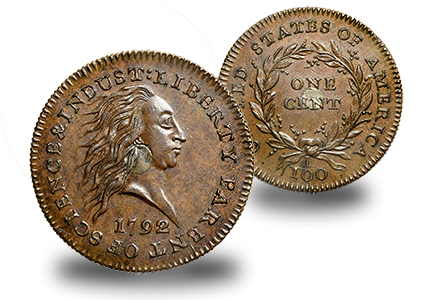 US Rare Coins: 1792 Dime and Silver Center Copper Cent Patterns