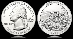 Gold Inches Up, US Mint Shenandoah Bullion Coins Temporarily Sold Out