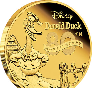 Donald Duck coins snapped up