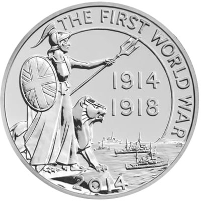 Royal Mint Unveils New £20 for £20 Silver Coin for WWI Centennial