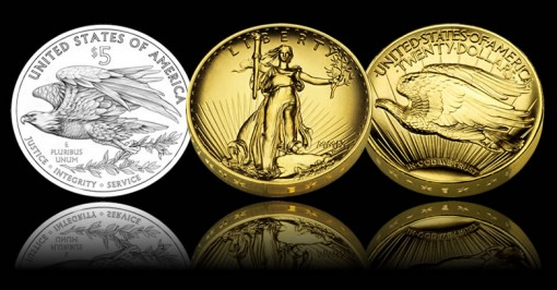 UHR Gold Coin, Silver Medal Approved; New Silver Eagle Design Out