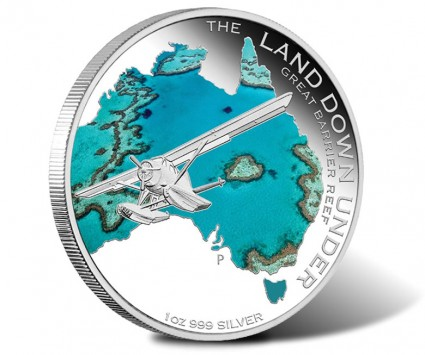 2014 Great Barrier Reef Silver Coin in Land Down Under Series