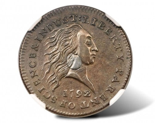1792 Silver Center Cent to Lead Heritage September Long Beach Auction