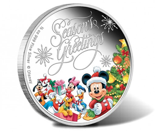 Disney Characters Adorn 2014 Season's Greetings Coin