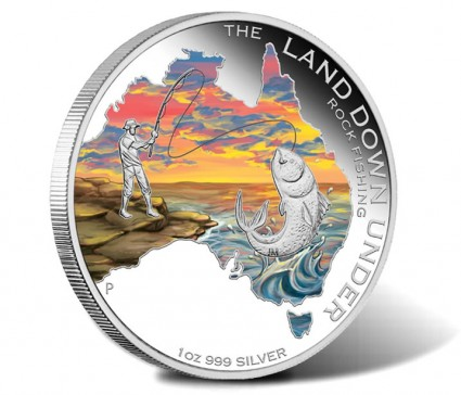2014 Rock Fishing Silver Coin from Land Down Under Series