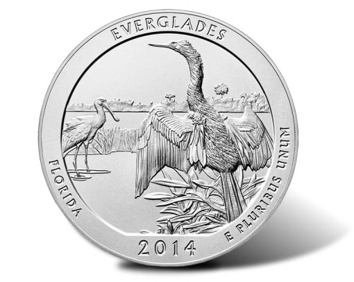 2014 Everglades 5 Oz Silver Uncirculated Coin Released
