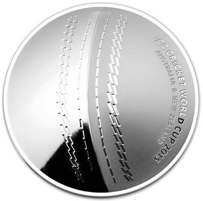 Royal Australian Mint 2015 ICC Cricket World Cup Domed Silver Coin