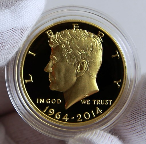 2014 50th Anniversary Kennedy Gold Coin Limited to 75K