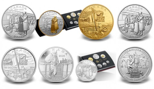 Canada and the First World War Commemorative Coins for 2014