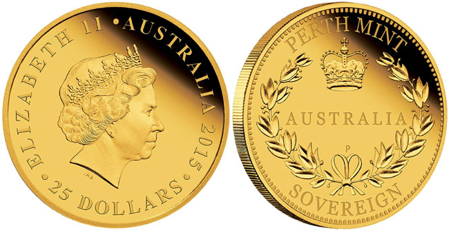 Perth Mint 2015 Australian Sovereign Gold Proof Coin