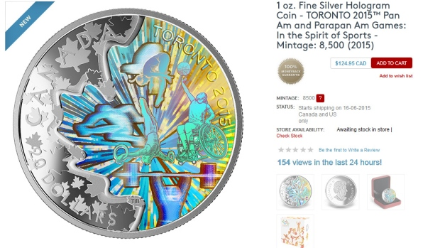 2015 Pan Am Games collector coins revealed